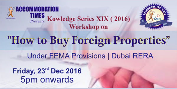Workshop on 'HOW TO BUY FOREIGN PROPERTIES' under FEMA Provisions